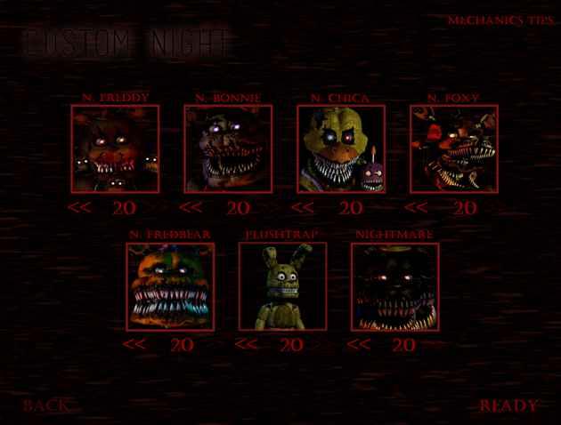 Five Nights at Freddy's 4: Custom Night Recreation Screenshots