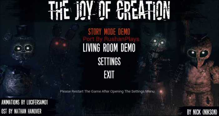 The Joy of Creation: Story Mode APK Free Download