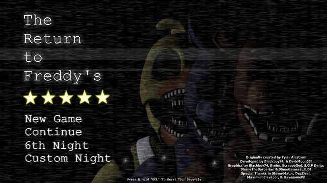 The Return to Freddy's: Rebooted Screenshots 1