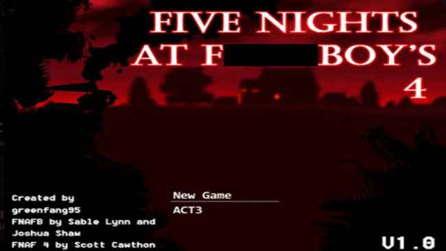 Five Nights at F***boy's 4 (Fan-Made) Free Download