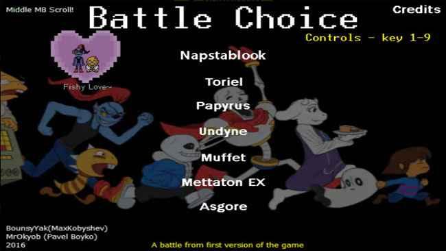 Battle simulator скачать undertale Game Undertale
